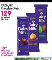 Cadbury Chocolate Slabs offer at R 129