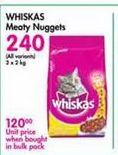 Whiskas Meaty Nuggets offer at R 240