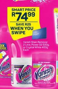 Vanish Stain Remover offer at R 74,99