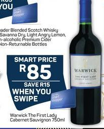 Warwick The First Lady Cabernet Sauvignon offer at R 85
