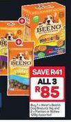 Beeno Dog Biscuits 3 offer at R 85