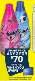 Comfort Fabric Conditioner Refill 2 offer at R 70