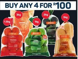 Tomatoes / Onions / Peppers / Beetroot / Butternut 4 offer at R 100