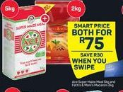 Ace Super Maize Meal & Fatti's & Monis Macaroni offer at R 75