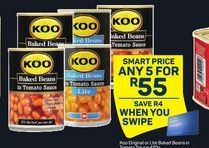 Koo Baked Beans in Tomato Sauce 5 offer at R 55