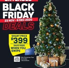 1.8m Christmas Tree offer at R 399