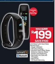 Life Watch with Heart Rate Monitor offer at R 199