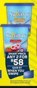 Danone NutriDay Smooth Yoghurt 2 offer at R 58