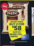 Tastic Long Grain Parboiled Rice 2 offer at R 58