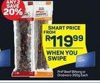 PnP Beef Biltong or Droewors  offer at R 119,99