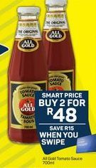 All Gold Tomato Sauce 2 offer at R 48