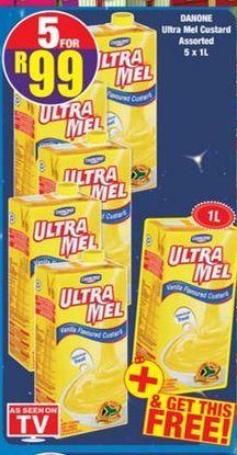 Danone Ultra Mel Custard 5 offers at R 99