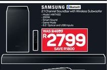 Samsung 2.1 Channel Soundbar with Wireless Subwoofer offer at R 2799