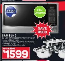 Samsung Silver Electronic Microwave Oven offers at R 1599