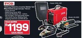 Ryobi Inverter Welder Set + Angle Grinder  offer at R 1199