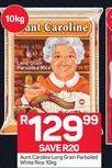 Aunt Caroline Long Grain Parboiled Rice offer at R 129,99