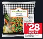 Nature's Garden Mixed Vegetables offer at R 28