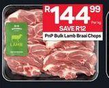 PnP Bulk Lamb Braai Chops offer at R 144,99