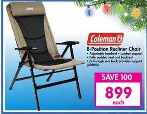 Coleman 8-Position Recliner Chair offer at R 899