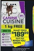 Canine Cuisine Dry Dog Food offer at R 189,99