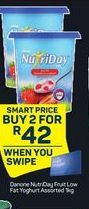 Danone NutriDay Smooth Yoghurt 2 offer at R 42