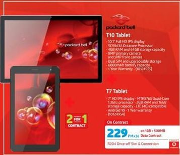 Packard Bell Tablet offer at R 229