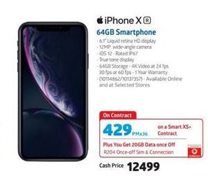 IPhone X 64GB Smartphone offer at R 429