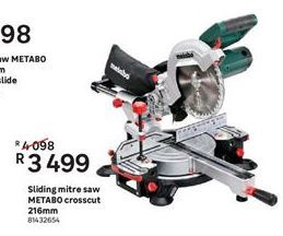 Tools Metabo offer at R 3499