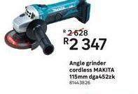 Angle grinder Makita offer at R 2347