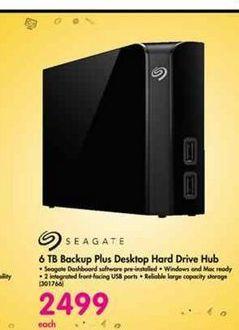 Seagate 6TB Backup Plus Desktop Hard Drive Hub offer at R 2499