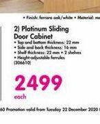Platinum Sliding Door Cabinet offer at R 2499