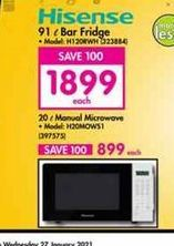 Hisense Microwave Oven  offer at R 1899
