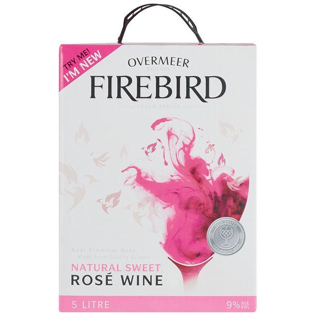 Overmeer Firebird Natural Sweet Rosé  (1x5000ML) offers at R 99,99