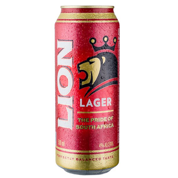 Lion Lager Can (24x 500ML) offer at R 239,99