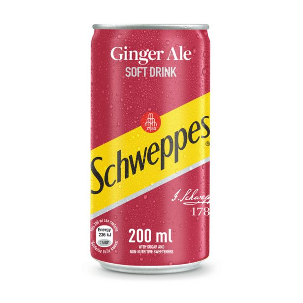 Schweppes Ginger Ale Can (24x200ML) offers at R 189,99