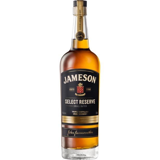 Jameson Select Reserve Triple Distilled Irish Whiskey (1x750ML) offer at R 399,99