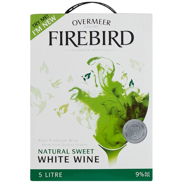Overmeer Firebird Natural Sweet White  (1x5000ML) offers at R 99,99