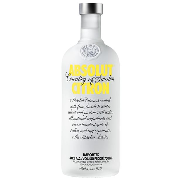 Absolut Citron Vodka (1x 750ML) offers at R 234,99