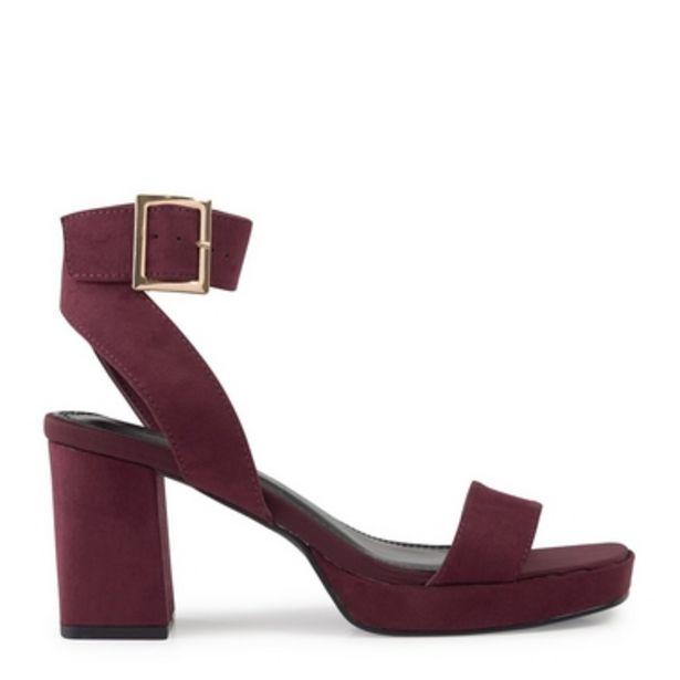 Burgundy Platform Sandal offer at R 550