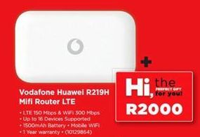 Vodafone Huawei Mifi Router LTE offers at R 2000