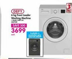 Defy Front Loader Washing Machine offers at R 3699