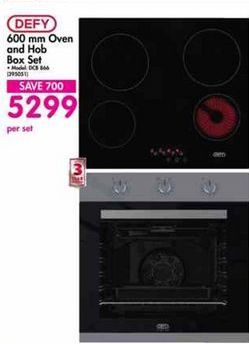 Defy 600mm Oven and Hob Box Set offer at R 5299