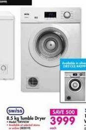 Swiss Tumble Dryer offer at R 3999