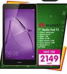 """Huawei 7"""" Media Pad T3 offers at R 2149"""