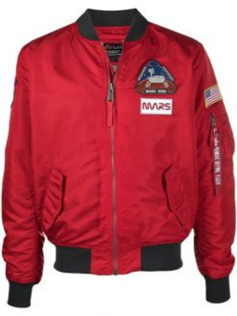 ALPHA MISSION 2 MARS BOMBER JACKET RED offers at R 2199,95