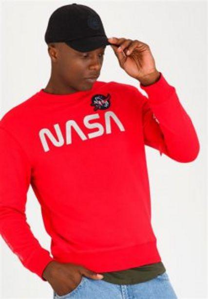 ALPHA NASA CREW SWEATSHIRT RED offers at R 499,95