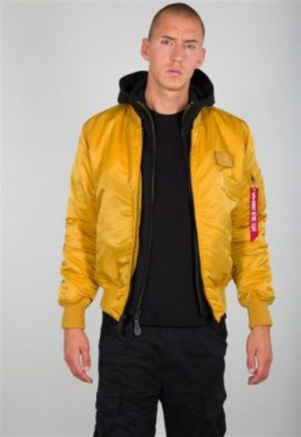 ALPHA MA-1 D-TEC HOODED JACKET WHEAT offers at R 2399,95