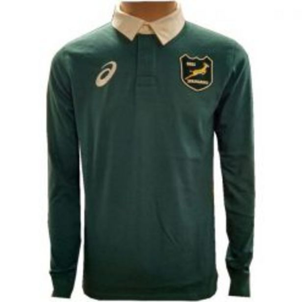 ASICS SPRINGBOK L/SLEEVE TRADITIONAL JERSEY GREEN offers at R 999,95