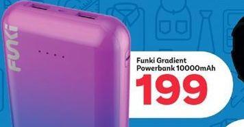 Funki Gradient Powerbank 10000mAh offer at R 199