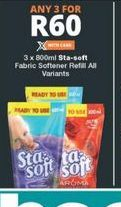Sta-Soft Fabric Softener  3 offer at R 60